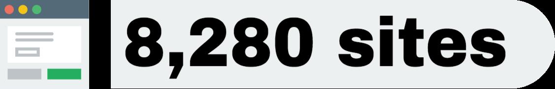 Sites numbers 2017